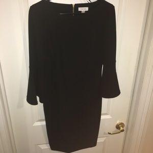 Calvin Klein women's peplum sleeve sheath dress